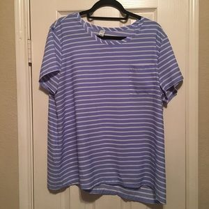 Blue Striped Blouse - Old Navy